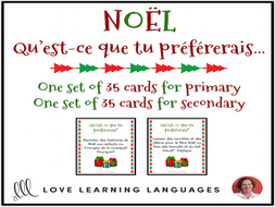Noël - Christmas - French I'd rather game for primary and secondary