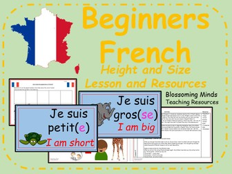 French lesson and resources - KS2 - Height and size