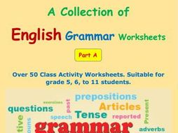 English Grammar Worksheets Part A