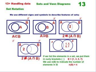 Sets and Venn Diagrams