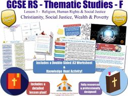 Christianity, Wealth & Poverty [GCSE RS - Religion, Human Rights & Social Justice - L3/10]