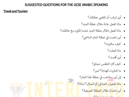 Suggested Questions for the GCSE Arabic Speaking (9-1)