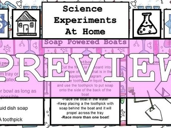 Science Home Experiment - Soap Powered Boats
