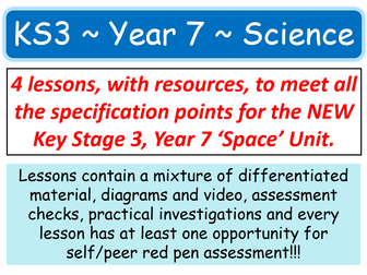 NEW KS3 ~ Year 7 ~ Space