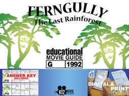 FernGully: The Last Rain Forest Movie Guide | Questions | Worksheet (G - 1992)