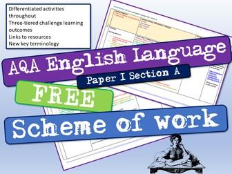 AQA English Language Paper 1 Scheme Of Work