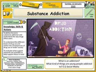 Substance Addiction Drugs Education PSHE