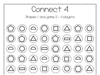 Connect 4 Shapes game