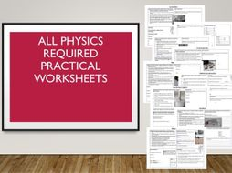 Physics Required Practical Worksheets with 9-1 Graded Exam Style Questions with Answers