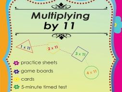 Multiplying by 11 - Multiplication Math Games and Lesson Plans