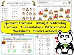 ks2 y3 fractions equivalents adding subtracting 4 presentations and 17 pages of worksheets. Black Bedroom Furniture Sets. Home Design Ideas