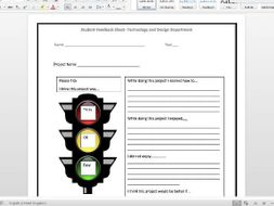 Pupil feedback sheet