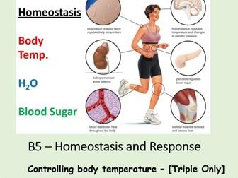 NEW AQA BIOLOGY GCSE (TS) - HOMEOSTASIS & RESPONSE - Lesson 6 – Controlling Body Temperature