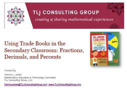 Using Trade Books in the Secondary Classroom: Fractions, Decimals, and Percents