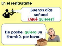 Ks34 Spanish En El Restaurante Ordering Food By Tcnewman