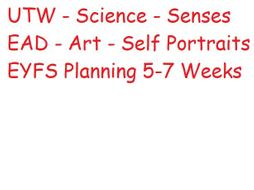 EYFS UTW, Science and Art planning