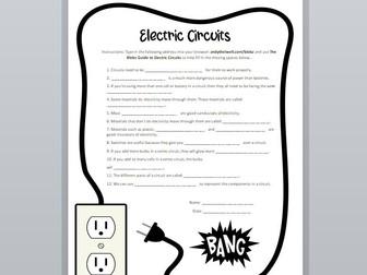 Electric Circuits Interactive Worksheet
