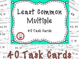 Free Download - Least Common Multiple Task Cards
