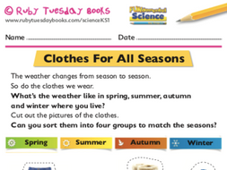 Clothes for all seasons by RubyTuesdayBooks | Teaching Resources