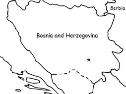 BOSNIA and HERZEGOVINA - Printable handout with map and flag