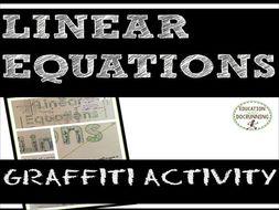Linear Equations: Graffiti activity