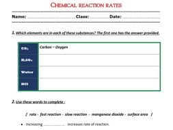 chemical reaction rates worksheet by abubakrshalaby teaching resources tes. Black Bedroom Furniture Sets. Home Design Ideas