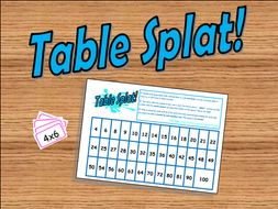 Table Splat! (Times Tables Game)