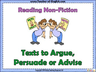 Texts to Argue, Persuade and Advise