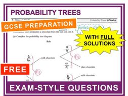 gcse 9 1 exam question practice probability trees by maths4everyone teaching resources. Black Bedroom Furniture Sets. Home Design Ideas