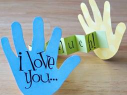 Valentines day Hands Card