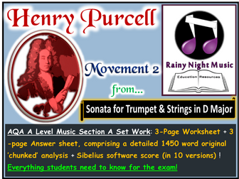 PURCELL SONATA in D MOVEMENT 2 AQA A Level Music Section A