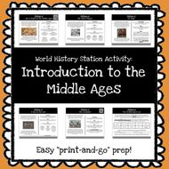 World History Stations Activity - Intro to the Middle Ages *Print & Go Prep*