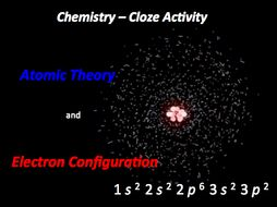 Atomic Theory and Electron Configuration Cloze Activity
