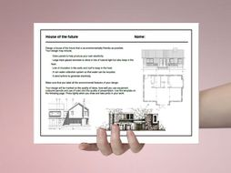 Art cover work / cover lesson - House of the future - 1hr activity