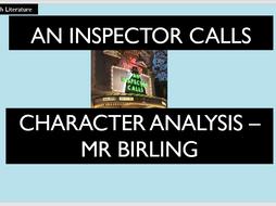An Inspector Calls - Mr Birling Analysis