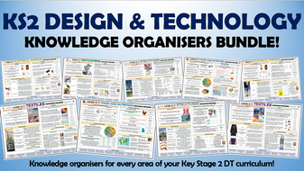 KS2 Design and Technology Knowledge Organisers Bundle!