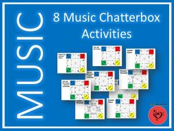 8 Music Chatterbox Activities