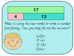 Year 2 Fact Families Using Bar Models By MissJG133