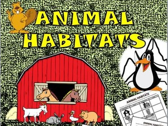 Animal Habitats Fun Activity!