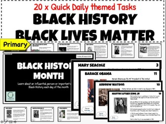 Black History Month 2020 - Black Lives Matter