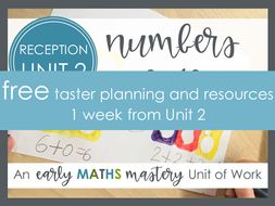 FREE Early Maths Mastery planning sample - numbers 0 - 5