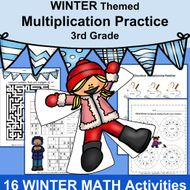 3rd Grade Math WINTER Activities