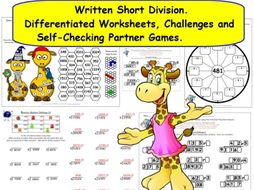 ks2 y5 y6 written formal short division differentiated worksheets and activities inc missing. Black Bedroom Furniture Sets. Home Design Ideas