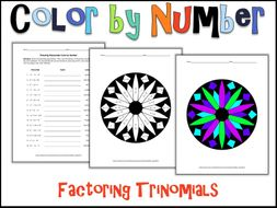 Factoring Trinomials Color By Number By Charlotte James615
