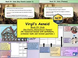 Virgil's Aeneid Book IV: Dido (4x Lessons) [New OCR A-Level: 'The World of the Hero']