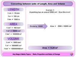 Converting Between Units of Length, Area and Volume KS4