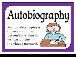 Autobiography unit - KS3 homework takeaway menu