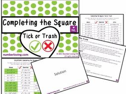 Completing the Square (Tick or Trash)