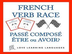 GCSE FRENCH: Passé Composé - Être ou Avoir - French Verb Race Game