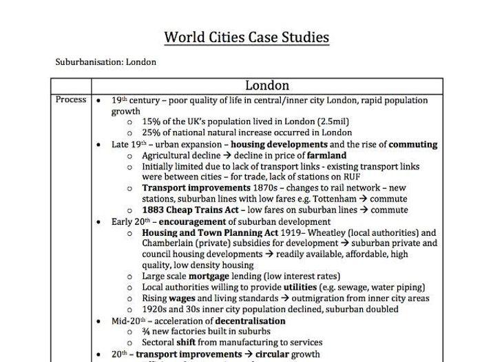 counterurbanisation case study a2